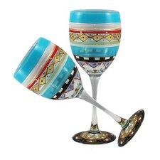 Mosaic Carnival Wine Glass (Set of 2)