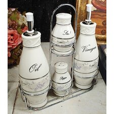 Grape 4 Piece Oil, Vinegar, Salt and Pepper Set