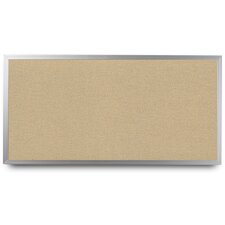 Wide Aluminum Framed Cork Wall Mounted Bulletin Board