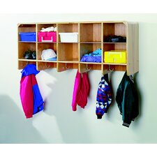10-Section Wall-Mounted Coat Locker