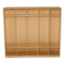 1 Tier 15 Section Bench Coat Locker
