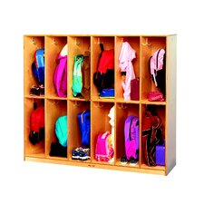 2 Tier 12-Section Coat Locker