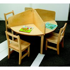 4-Student Carrel Divider for Round Table