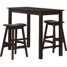 Wisdom 3 Piece Counter Height Pub Table Set