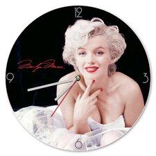 "13.5"" Marilyn Monroe Cordless Wood Wall Clock"