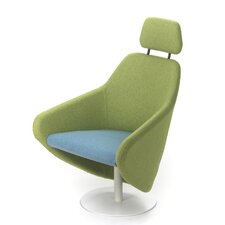 Taxido Swivel Lounge Chair with Headrest