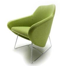 Taxido Sled Base Arm Chair with Headrest