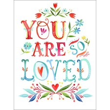 You Are So Loved by Katie Daisy Framed Graphic Art on Wrapped Canvas