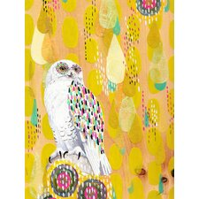Snow Owl by Yellow Button Studio Framed Painting Print on Wrapped Canvas