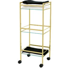 Freestanding 3 Shelf Rack with Wheels