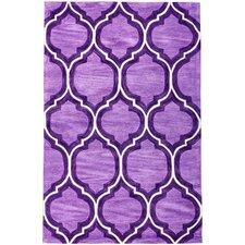 Expressions Wallaby Lattice Plum Purple Area Rug