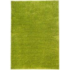 Madison Shag Plain Solid Green Area Rug