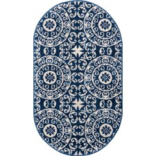 Sydney Petra Palatial Navy Blue/White Area Rug