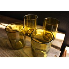 Wine Bottle Rocks Glass (Set of 4)