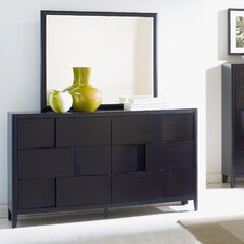 Nova 12 Drawer Dresser with Mirror