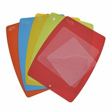 7 Piece Flexible Plastic Cutting Board Set
