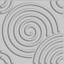 "Circles Brick Paintable 19.6' x 19.6"" Geometric 3D Embossed 10 Piece Panel Wallpaper (Set of 10)"