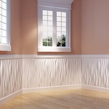 """Branches Paintable 31.4' x 24.6"""" Abstract 3D Embossed 6 Piece Panel Wallpaper (Set of 6)"""