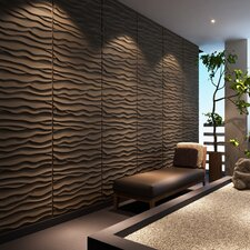 "Dunes Brick Paintable 31.4' x 24.6"" Abstract 3D Embossed 6 Piece Panel Wallpaper (Set of 6)"