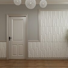 "31.4' x 24.6"" Paintable Brick 3D Embossed 3 Piece Panel Wallpaper (Set of 3)"
