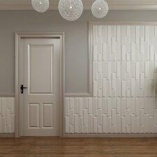 "31.4' x 24.6"" Paintable Brick 3D Embossed 3 Piece Panel Wallpaper (Set of 3)"