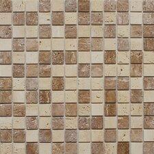 Natural Stone Peel & Stick Mosaic in Dark Brown & Beige