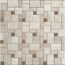 Random Sized Natural Stone Peel & Stick Mosaic Tile in Brown & Beige