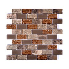 Upscale Designs Porcelain, Natural Stone, Metal, Glass, Ceramic Mosaic Tile in Taupe and Brown