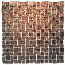 """12"""" x 12"""" Glass Peel & Stick Mosaic Tile in Brown"""
