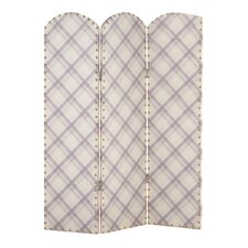 Antonito 150cm x 120cm Studded Screen 3 Panel Room Divider