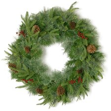 Cinnabar Cleveland 61cm; Pinecone and Red Berry Wreath