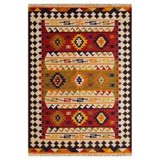 Handgewebter Teppich Mulgrave in Braun