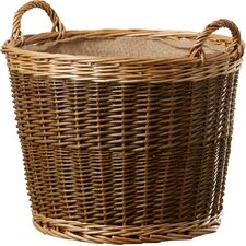 Tenleytown Unpeeled Log Basket with Lining