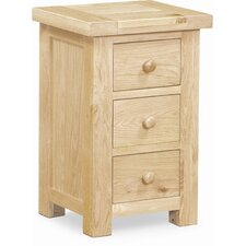Agassic 3 Drawer Bedside Table