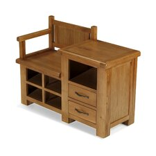 Columbia Wood Storage Entryway Bench