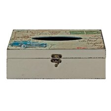 Vintage Cars Tissue Box Cover