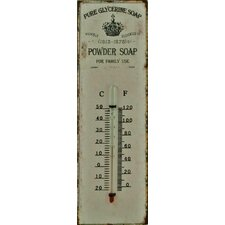 Powder Soap Metal Wall Thermometer