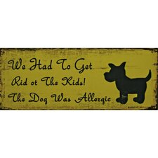 Top Dog Typography Plaque