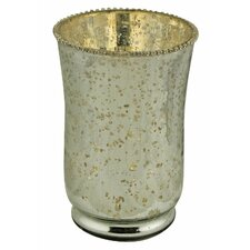 Antiqued Beaded Vase