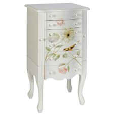 Bird and Flowers 6 Drawer Chest