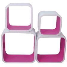 Cubic 4-Piece Bookshelf Set (Set of 4)