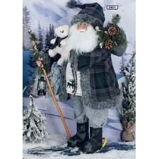 Papa Noël Santa Figurine