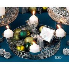 Leuchterschale Advent aus Stahl