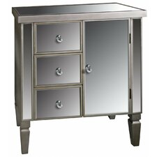 Museum Mirrored 3 Drawer 1 Door Cabinet
