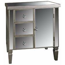 Museum Mirrored 3 Drawer 1 Door Cabinet