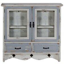 Wandmontierters Schrankfach mit 2 Türen und 2 Schubladen im Used Look