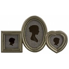 Lovely Shapes 3 Piece Photo Picture Frame Set