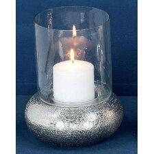 Windlicht Laure aus Nickel / Glas / Messing