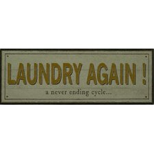 Laundry Again! Framed Typography Plaque