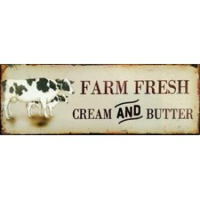 Farm Fresh Vintage Advertisement Plaque